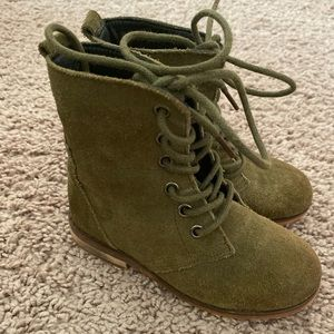 Army green toddler boots